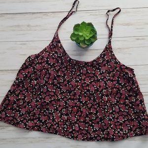 Pacsun John Galt Floral Crop Top
